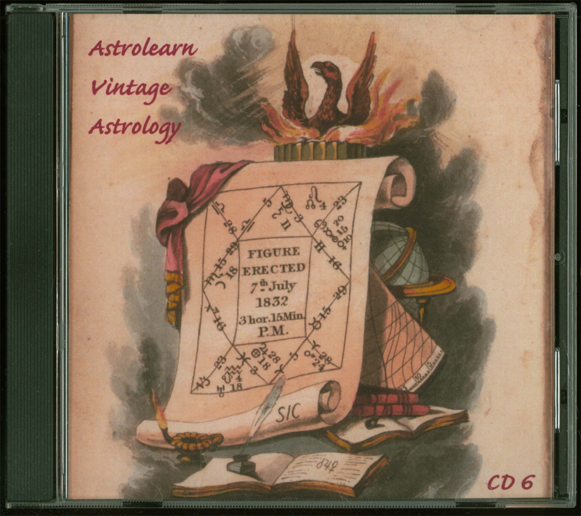 Astrolearn Vintage Astrology CD 6, Front Cover