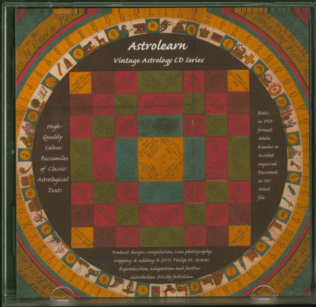 Astrolearn Vintage Astrology CD Series: Insides of covers