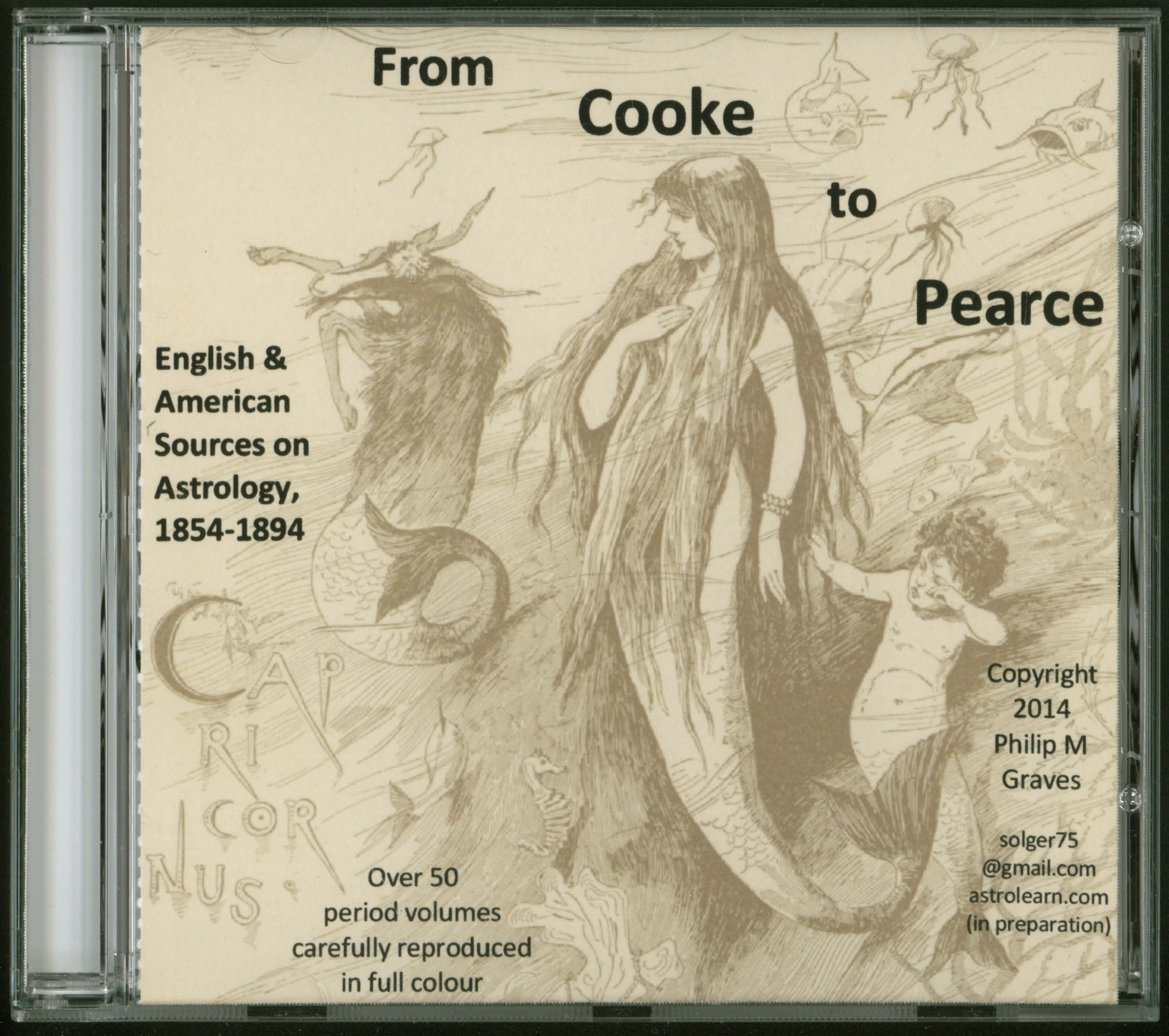 From Cooke to Pearce: English and American Sources on Astrology, 1854-1894 DVD, Front Cover
