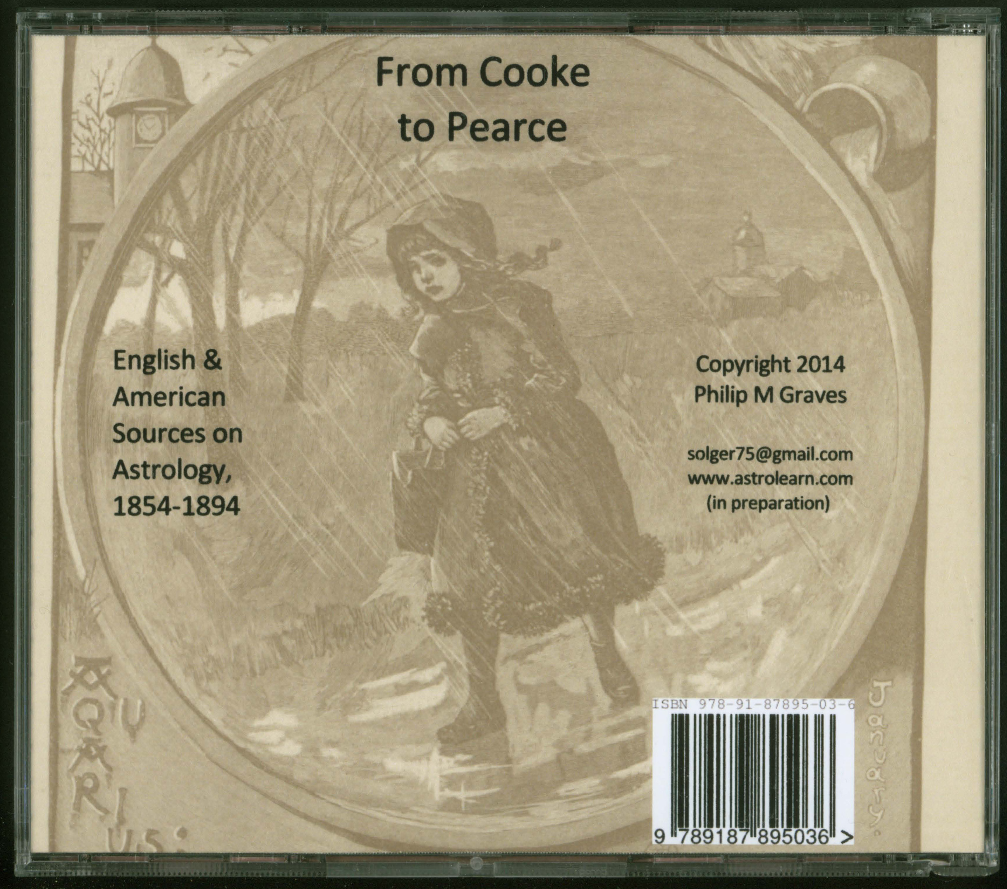 From Cooke to Pearce: English and American Sources on Astrology, 1854-1894, DVD, Rear Cover