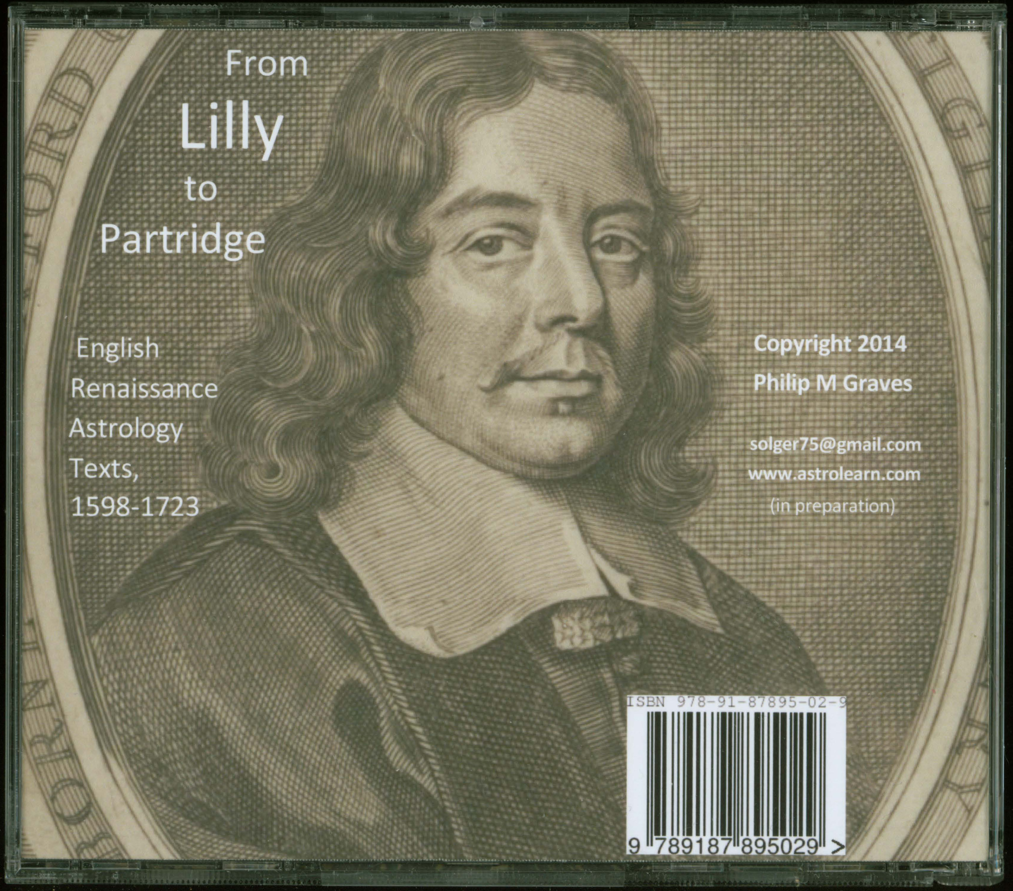 From Lilly to Partridge: English Renaissance Astrology Texts DVD, Rear Cover
