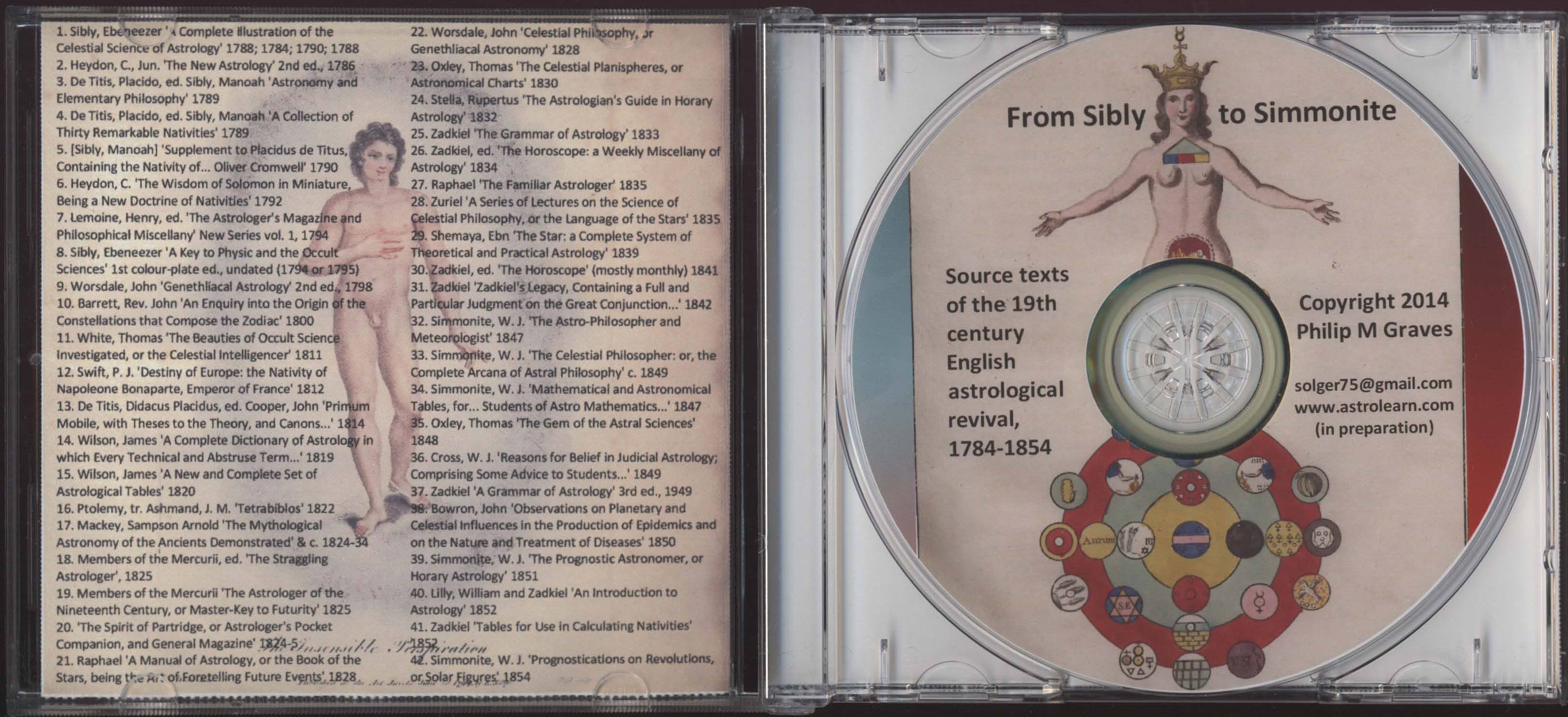 From Sibly to Simmonite: Source-Texts of the 19th century English Astrological Revival, 1784-1854, DVD, Open View