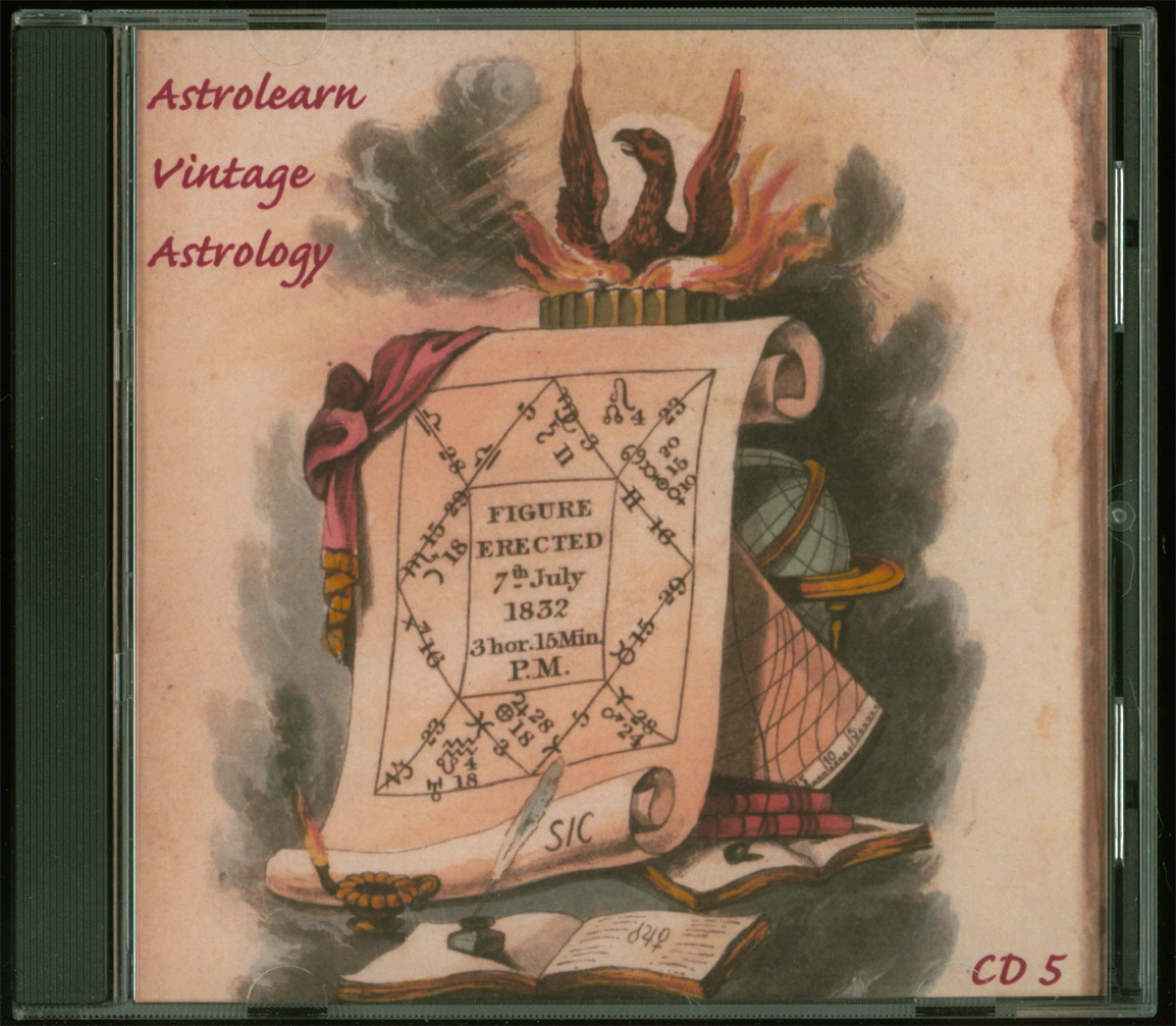 Astrolearn Vintage Astrology CD5, Front COver