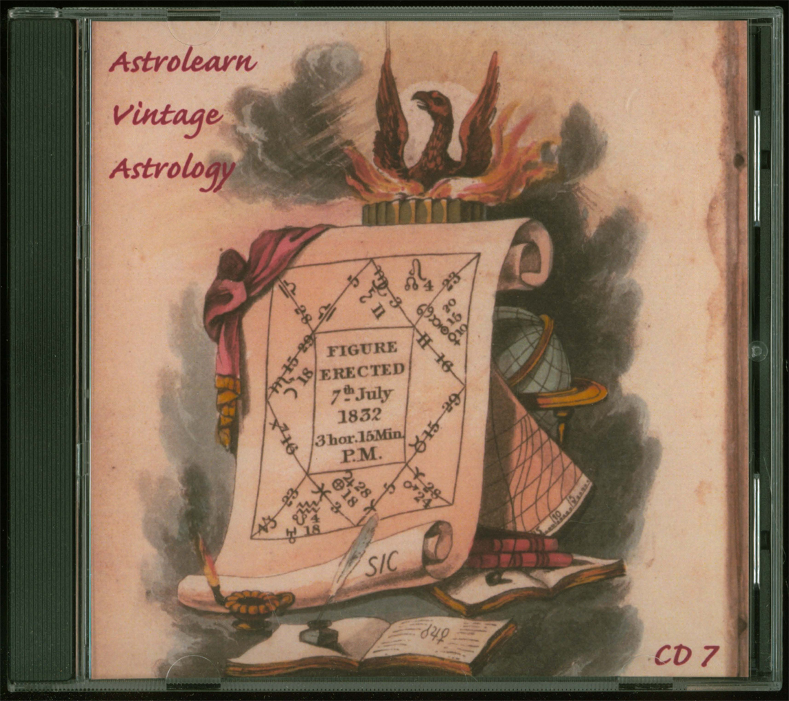 Astrolearn Vintage Astrology CD 7 front cover