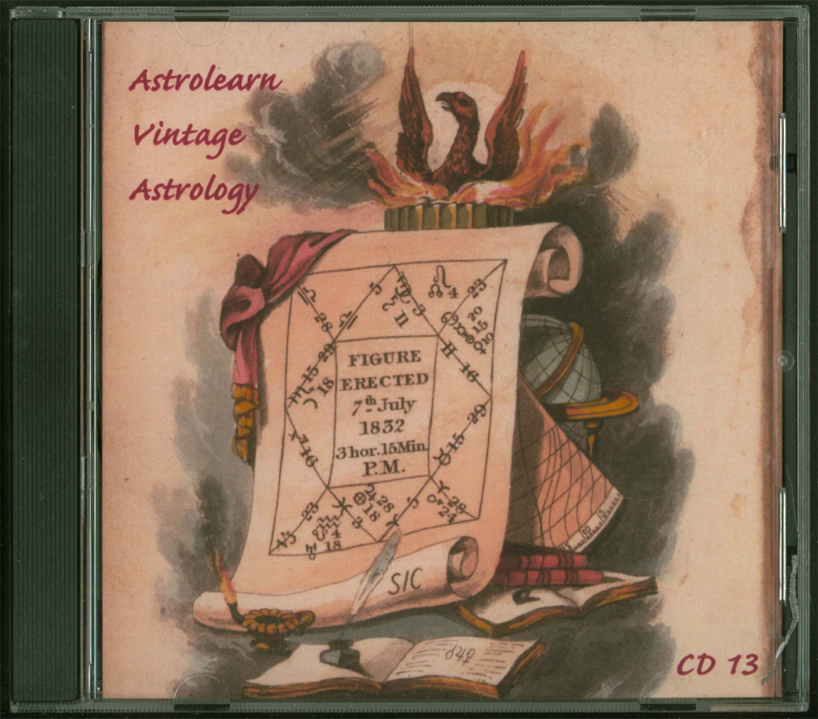 Astrolearn Vintage Astrology CD 13 Front cover