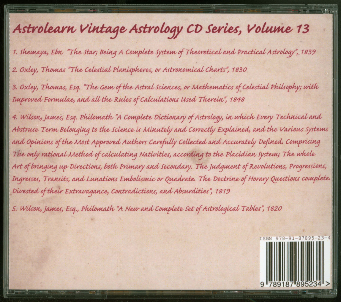Astrolearn Vintage Astrology CD 13 Rear cover