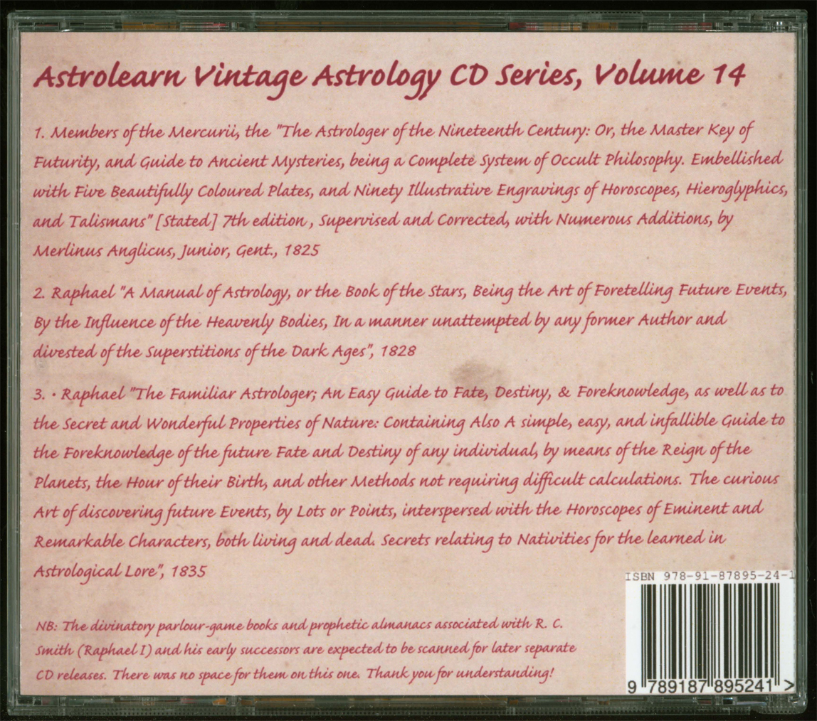 Astrolearn Vintage Astrology CD 14 Rear cover