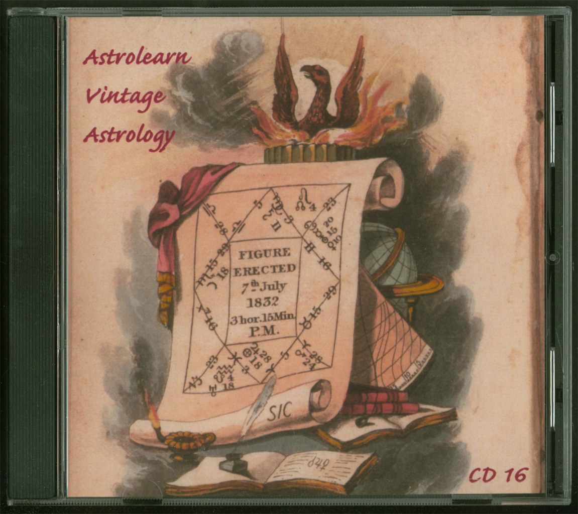 Astrolearn Vintage Astrology CD 16 Front cover