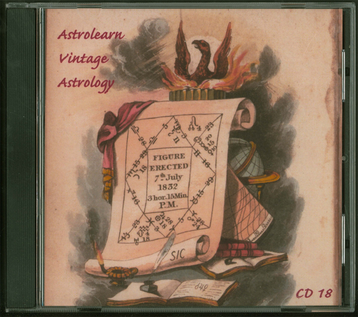 Astrolearn Vintage Astrology CD 18 Front cover