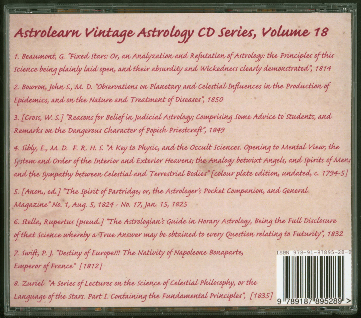 Astrolearn Vintage Astrology CD 18 Rear cover