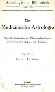 Feerhow Medizinische Astrologie