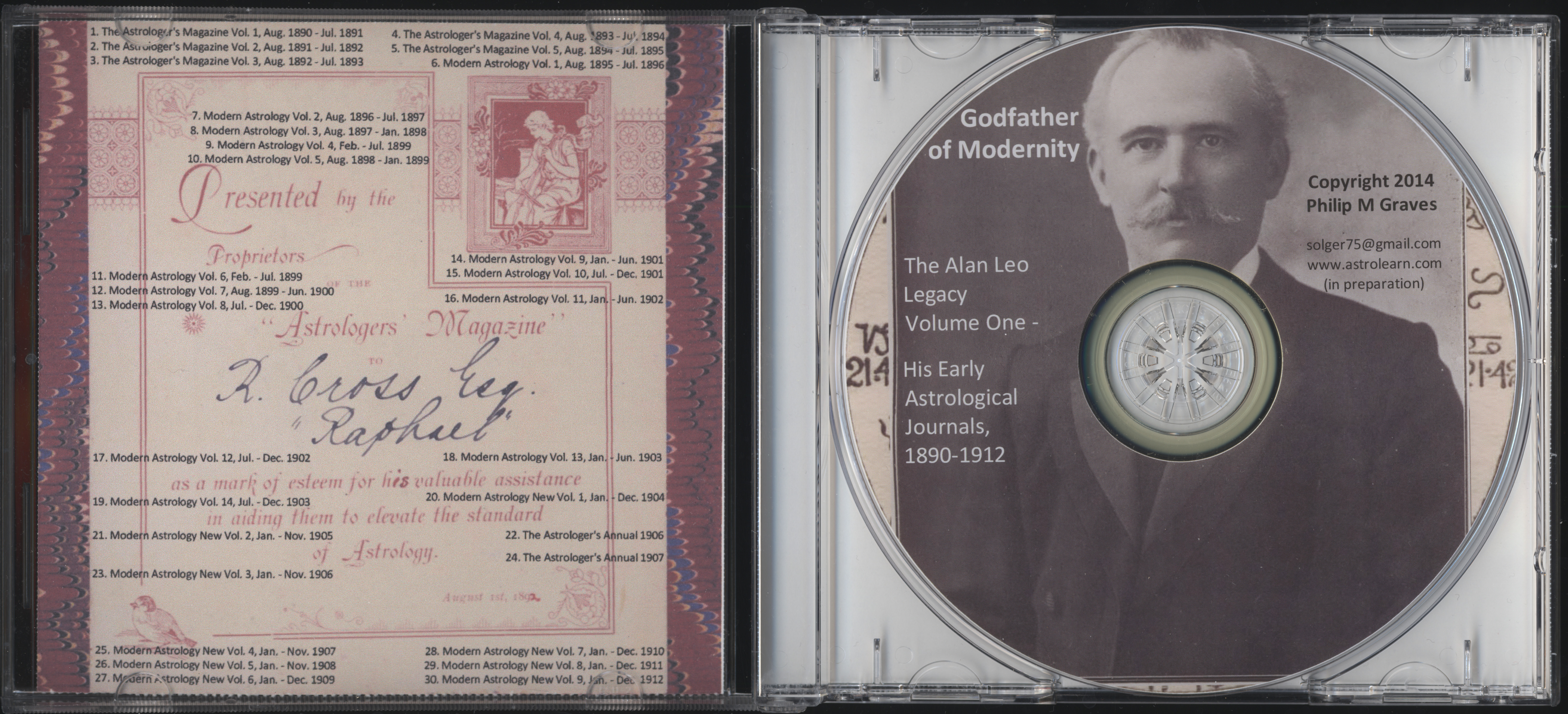 Godfather of Modernity: the Alan Leo Legacy Volume One,: Early Astrological Journals, 1890-1912, DVD, Open View