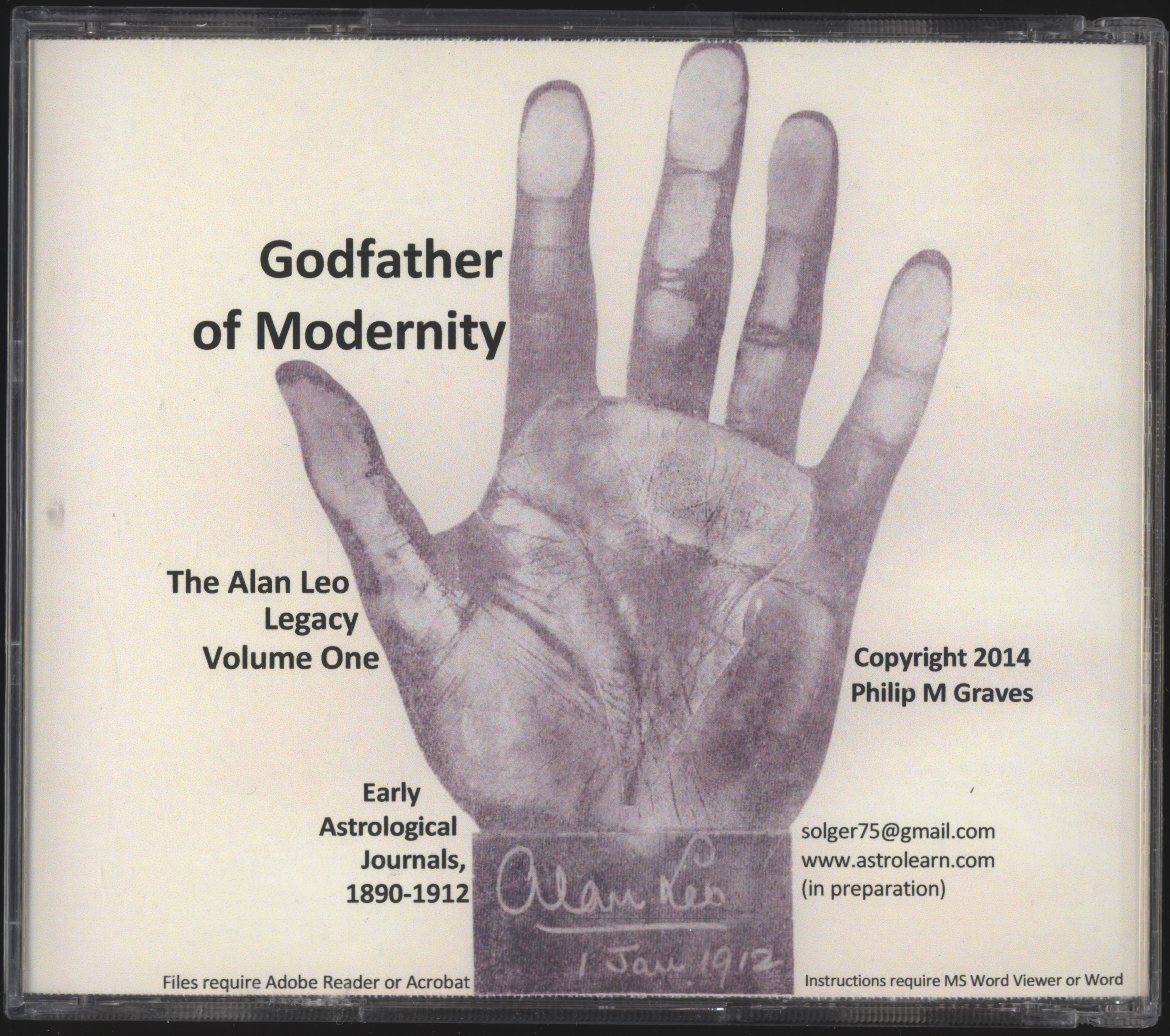 Godfather of Modernity: the Alan Leo Legacy Volume One: Early Astrological Journals, 1890-1912, DVD, Rear Cover